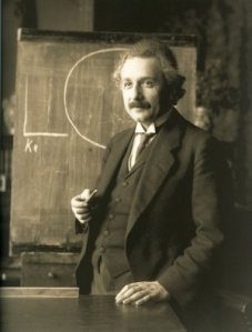 Fear of Mathematics: Einstein in 1921 had no such fear.